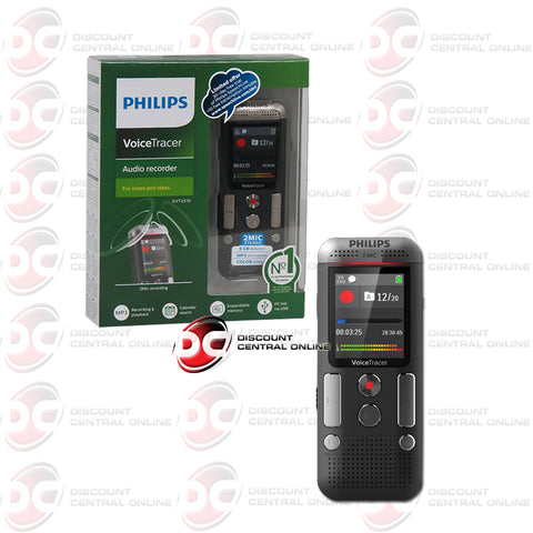 Philips DVT2510 Voice Tracer Voice Activated Audio Recorder (Anthracite/ Chrome)