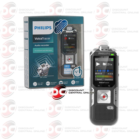 Philips DVT6010 Voice Tracer Voice Activated Audio Recorder (Silver/ Anthracite)