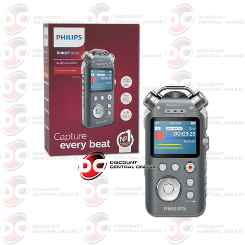 Philips DVT7500 Voice Tracer and Voice Activated Audio Recorder (Anthracite/ Chrome)