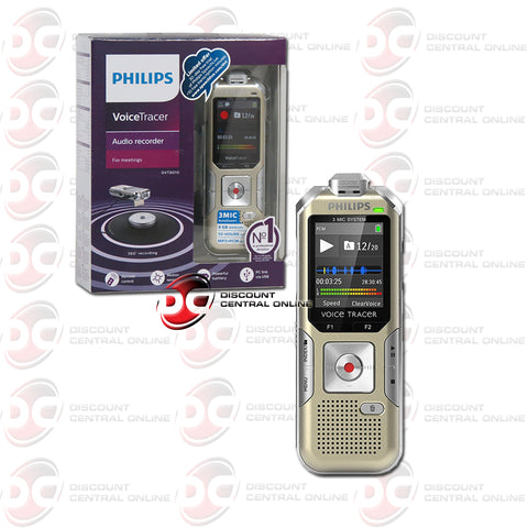 Philips DVT8010 Voice Tracer Audio Recorder (Champagne/ Silver Shadow)