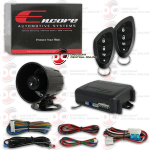 ENCORE E3 3-CHANNEL CAR ALARM AND KEYLESS ENTRY SECURITY SYSTEM