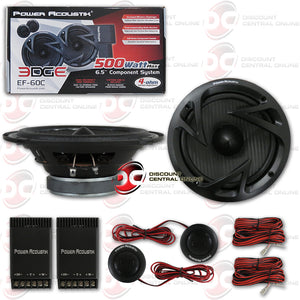 "POWER ACOUSTIK EF-60C 6.5"" 2-WAY CAR COMPONENT SPEAKERS"