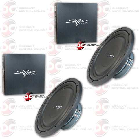 "2 x  EV-12 | 12"" 200 Watt RMS Shallow Mount Car Subwoofer"