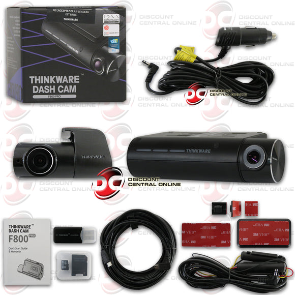 THINKWARE F800PRO-DH 1080P 2-CHANNEL FRONT AND REAR DASH CAMERA + CAR POWER CABLE