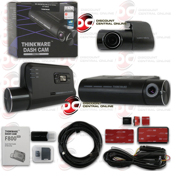 THINKWARE F800PRO-DH 1080P 2-CHANNEL FRONT AND REAR DASH CAMERA