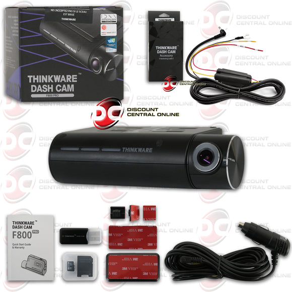 THINKWARE F800PRO 1080P SINGLE LENS PREMIUM WIFI/CLOUD DASH CAMERA + HARDWIRE KIT