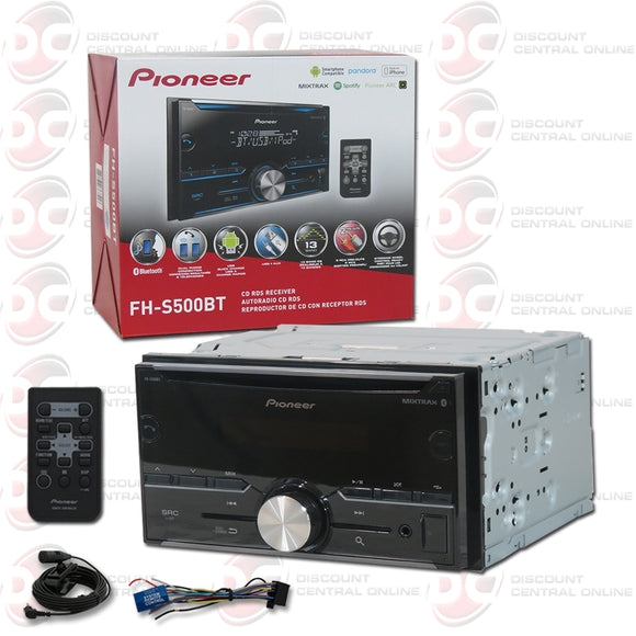 PIONEER FH-S500BT 2-DIN CD CAR STEREO WITH BLUETOOTH WORKS WITH PANDORA & SPOTIFY