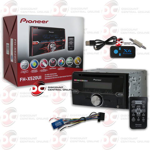 Pioneer FH-X520UI 2-Din Car Stereo AM/FM/CDDVD With Player Pandora Control & Remote