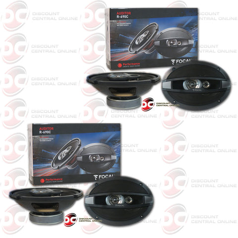 "2X FOCAL R690C 6""X9"" 3-WAY CAR AUDIO SPEAKERS (AUDITOR SERIES)"