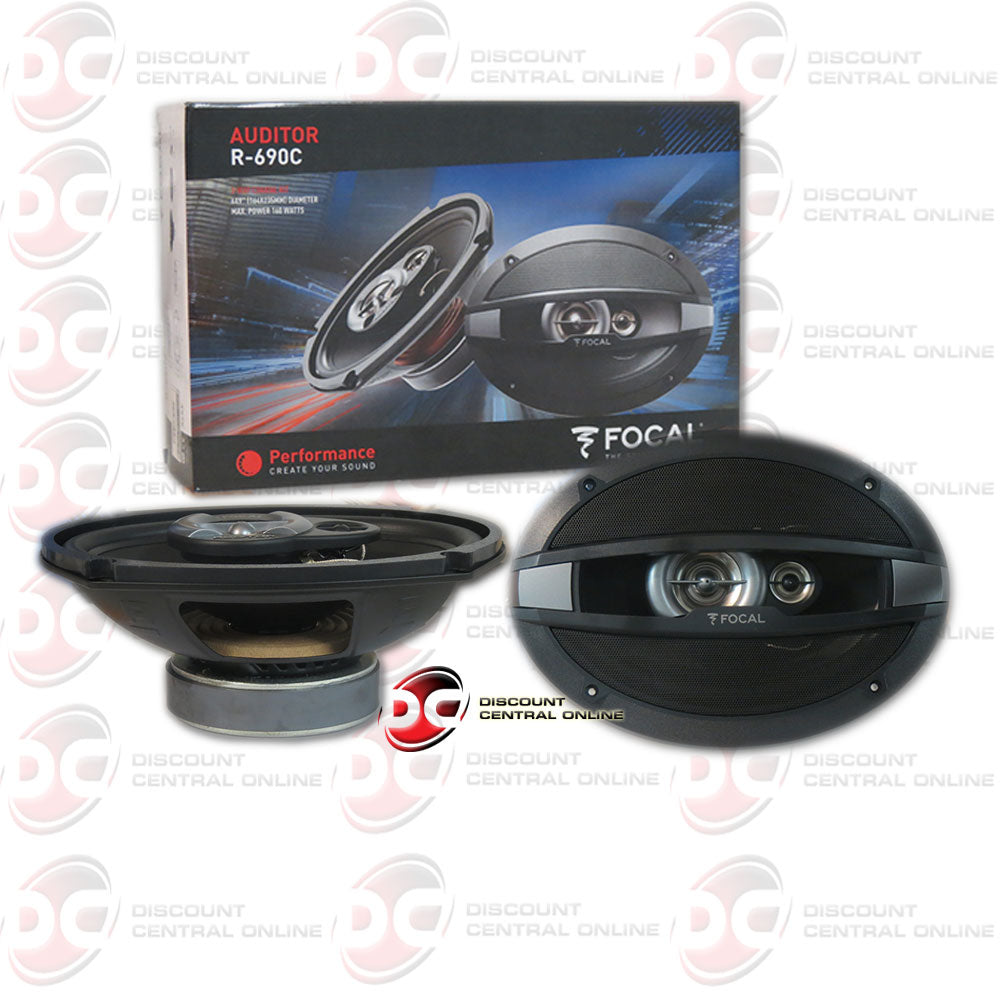"FOCAL R690C 6""X9"" 3-WAY CAR AUDIO SPEAKERS (AUDITOR SERIES)"