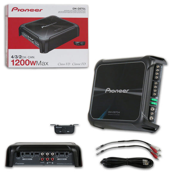 PIONEER GM-D8704 CLASS D 4-CHANNEL BRIDGEABLE CAR AMPLIFIER