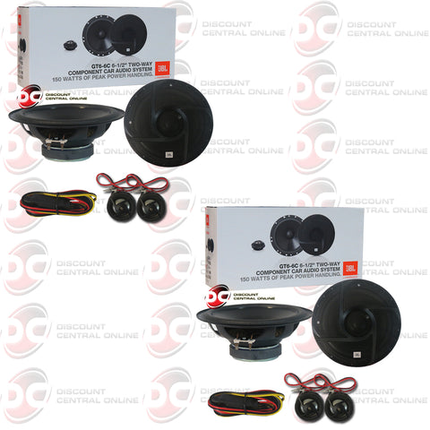 "2x JBL GT6-6C 6.5"" 2-way Car Audio Component Speaker System"