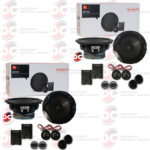 "2x JBL GT7-5C 5.25"" 2-way Car Audio Component Speaker System"