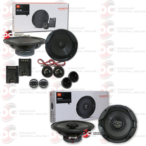"JBL GT7-6C 6.5"" 2-way Component Speakers Plus GT7-6 6.5"" 2-way Car Coax Speakers"