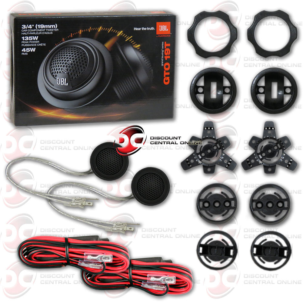 "JBL GTO19T 3/4"" GTO Series Car Tweeters with Passive Crossover Network"