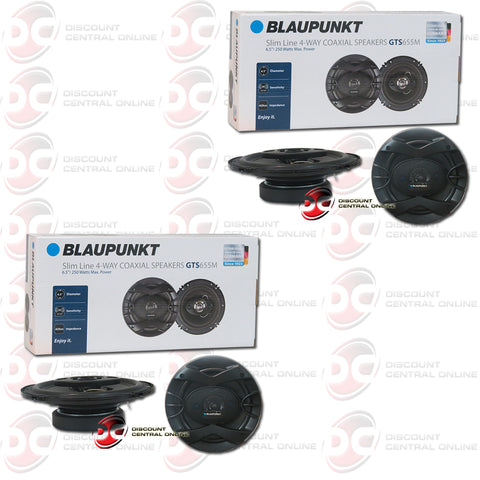"2x Blaupunkt GTS655M 6.5"" 4-way Car Audio Coaxial Speakers (Slim Line/GTS Series)"