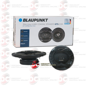 "Blaupunkt GTS655M 6.5"" 4-way Car Audio Coaxial Speakers (Slim Line/GTS Series)"