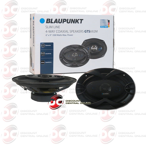 "Blaupunkt GTS692M 6x9"" 4-way Car Audio Coaxial Speakers (Slim Line/GTS Series)"