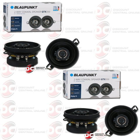 "Blaupunkt GTX350 3.5"" 2-Way Car Audio Coaxial Speakers (2 Pairs)"