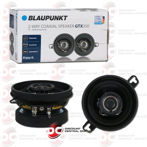 "Blaupunkt GTX350 3.5"" 2-Way Car Audio Coaxial Speakers (Pair)"