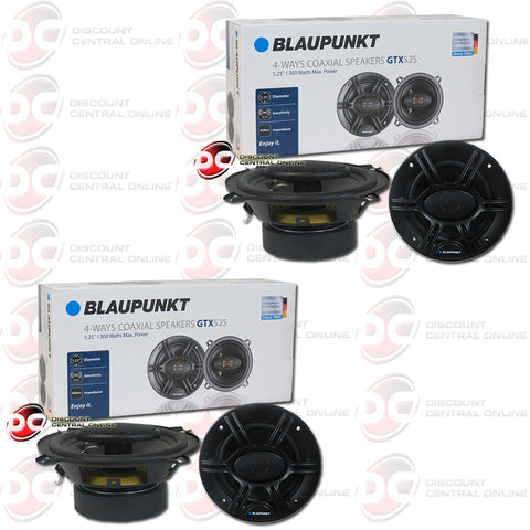 "4X BLAUPUNKT 5.25"" 4-WAY CAR AUDIO SPEAKERS (GTX SERIES)"