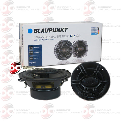 "BLAUPUNKT 5.25"" 4-WAY CAR AUDIO SPEAKERS (GTX SERIES)"