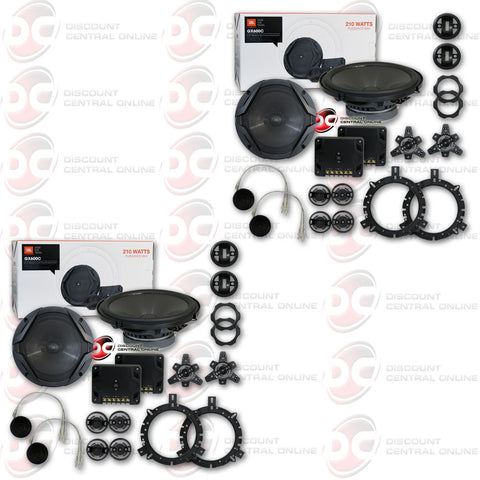 "2X JBL GX600C 6.5"" 2-WAY CAR AUDIO COMPONENT SPEAKER SYSTEM (GX SERIES)"