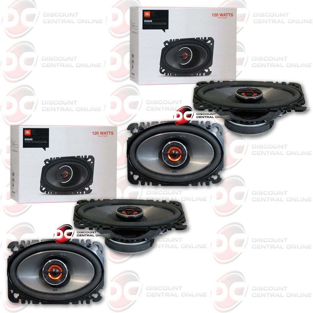 "2X JBL-GX642 4x6"" 2-WAY CAR AUDIO COAXIAL PLATE SPEAKERS"