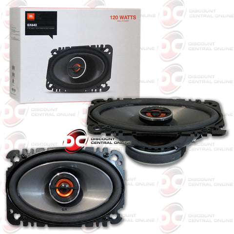 "JBL-GX642 4x6"" 2-WAY CAR AUDIO COAXIAL PLATE SPEAKERS"