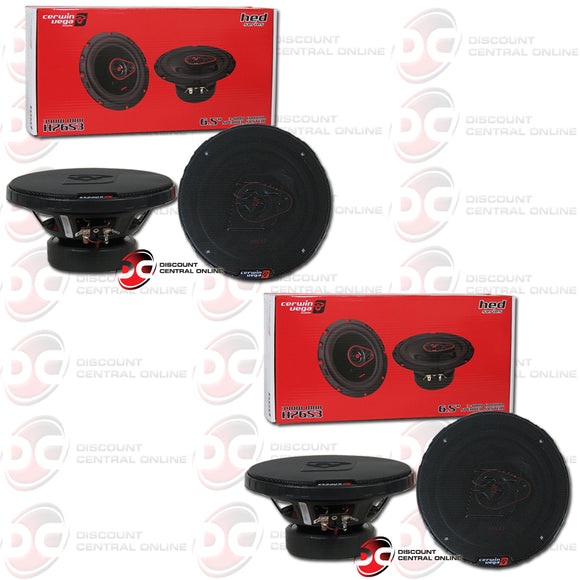 Cerwin Vega HED 6.5-inch 3-way Car Audio Coaxial Speakers (2 Pairs)
