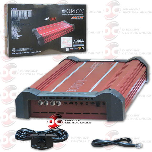 ORION HCCA5000.1D 10000W MAX MONOBLOCK  HIGH CURRENT CAR AUDIO AMPLIFIER (HCCA SERIES)