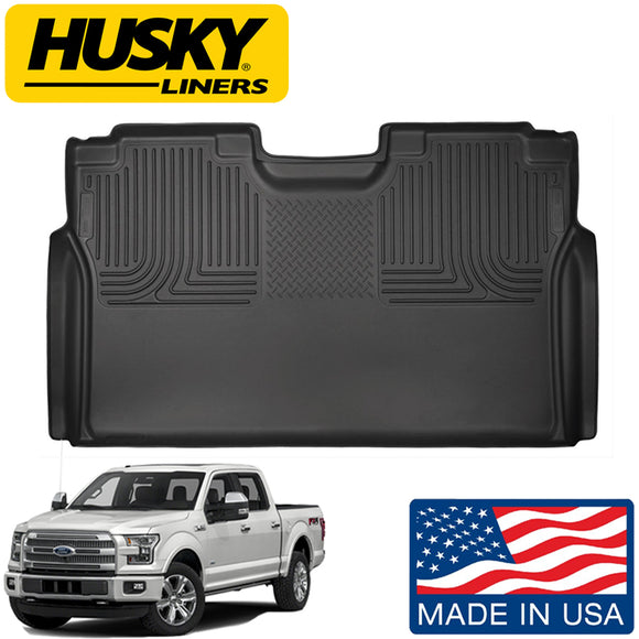 Husky Liners 2nd Seat Row Floor Liner Fits Select 15-18 Ford F150 F250 F350 F450