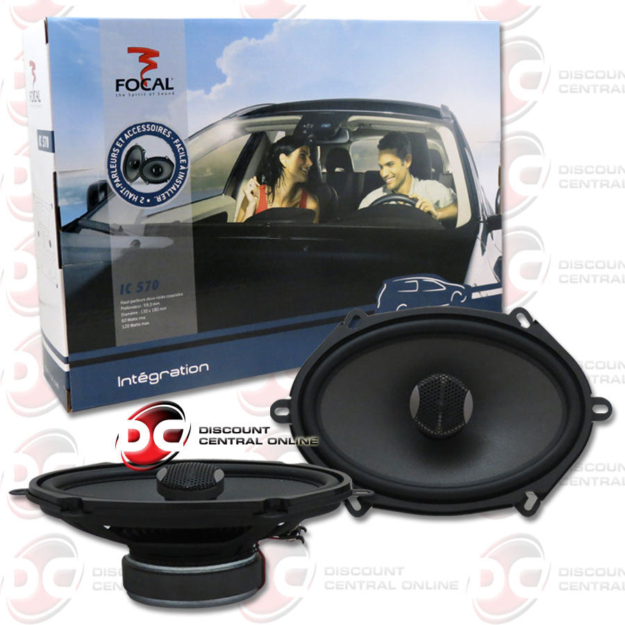 "FOCAL INTEGRATION IC570 5"" X 7"" CAR AUDIO 2-WAY CAR SPEAKERS"