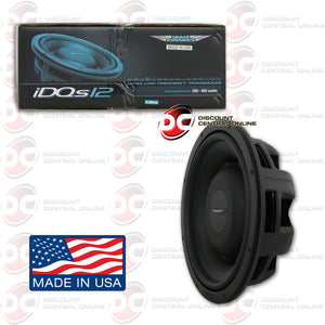 "IMAGE DYNAMICS IDQS12 D4 12"" DUAL 4 OHM SHALLOW MOUNT CAR SUBWOOFER"