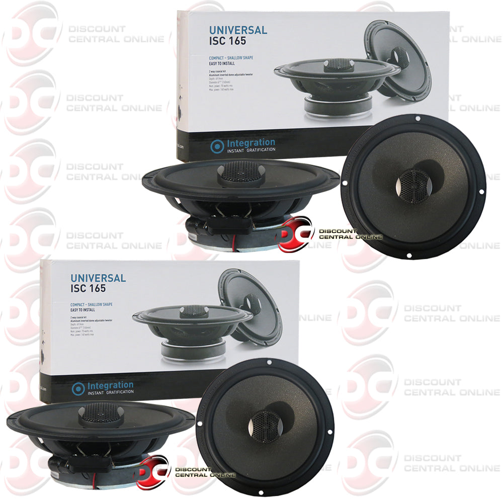 "2x Focal ISC165 6.5"" 2-Way Car Audio Coax Coaxial Speakers"