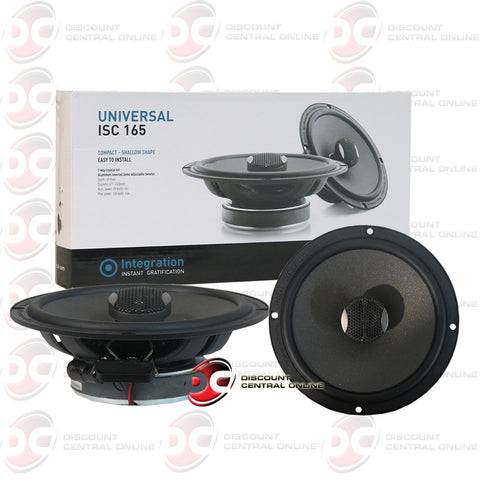 "Focal ISC165 6.5"" 2-Way Car Audio Coax Coaxial Speakers"