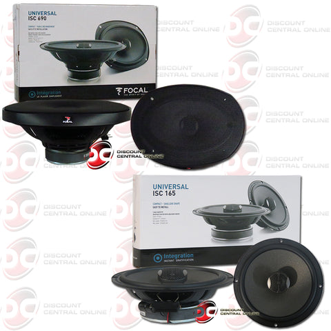 "Focal ISC690 6"" X 9"" 2-Way Car Audio Coaxial Coax Speakers Plus 6.5"" 2-Way Coaxial Car Speakers"