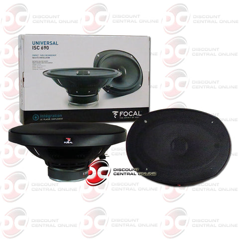"Focal ISC690 6"" X 9"" 2-Way Car Audio Coaxial Coax Speakers"