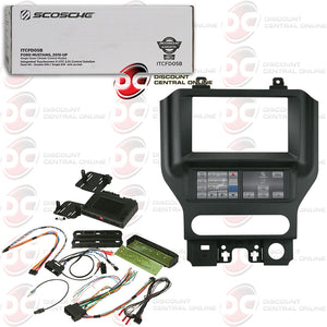 SCOSCHE ITCFD05B 1-DIN/ 2-DIN INTEGRATED INSTALL KIT FOR 2015-UP FORD MUSTANG