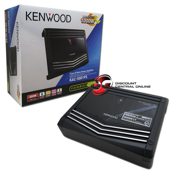 KENWOOD KAC-5001PS MONO BLOCK CLASS D CAR AMPLIFIER