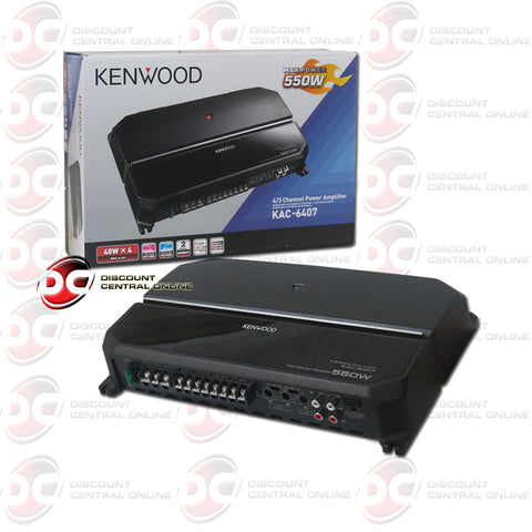 Kenwood KAC-6407 Car Audio 4-Channel Class AB Amplifier