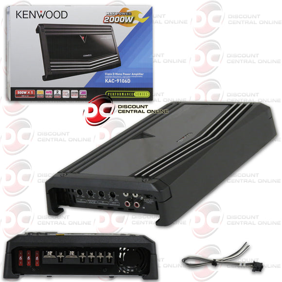 KENWOOD KAC-9106D MONO BLOCK CAR AMPLIFIER