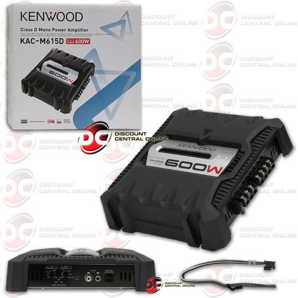 KENWOOD KAC-M615D CLASS D MONOBLOCK CAR POWER AMPLIFIER
