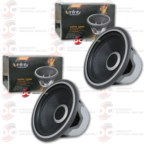 "2 X INFINITY KAPPA1200W 12"" (300MM) HIGH-PERFORMANCE CAR AUDIO SUBWOOFERS"