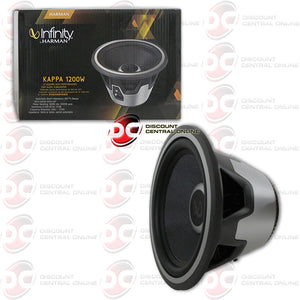 "INFINITY KAPPA1200W 12"" SELECTABLE SMART IMPEDANCE 2 OR 4 OHM CAR SUBWOOFER"