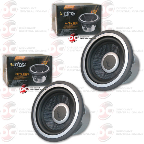 "2 x  INFINITY KAPPA 800W  8"" 1600W PEAK (400W RMS) SUBWOOFER WITH SELECTABLE SMART IMPEDANCE (KAPPA SERIES )"