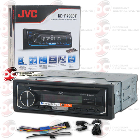JVC-KD-R790BT SINGLE DIN CAR AUDIO STEREO WITH AM/FM/CD/AUX/ BLUETOOTH/SIRIUS XM CAPABILITY