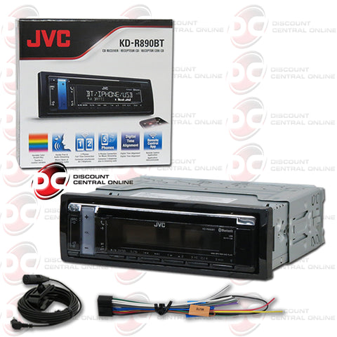 JVC KD-R890BT SINGLE DIN CAR AUDIO AM/FM/CD/AUX With Bluetooth