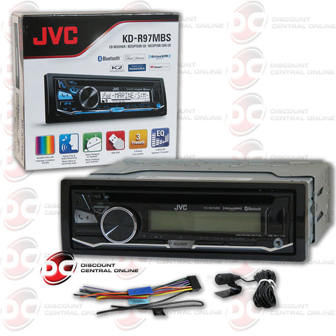 JVC KD-R97MBS Single DIN Bluetooth In-Dash CD/AM/FM Car Stereo w/ SiriusXM Radio Ready and iHeartRadio compatible