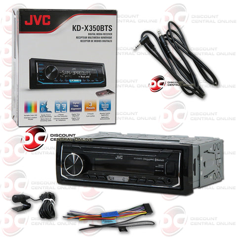 JVC KD-X350bts 1-Din Car Digital Media Receiver With Bluetooth And Pandora Control Plus IBA 3.5mm AUX Cord